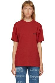 VETEMENTS - Red Logo Front Back T-Shirt