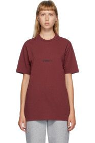 VETEMENTS - Red Written logo T-Shirt