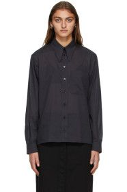 Lemaire - Navy Pointed Collar Shirt