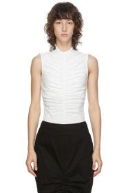 Edit - SSENSE Exclusive White Sleeveless Ruch Fron