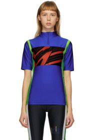 Martine Rose - SSENSE Exclusive Blue Cycling T-Shi