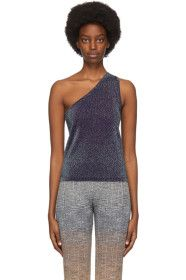 Missoni - Purple Lamé One-Shoulder Tank
