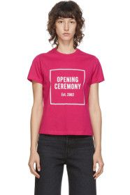 Opening Ceremony - Pink Box Logo T-Shirt