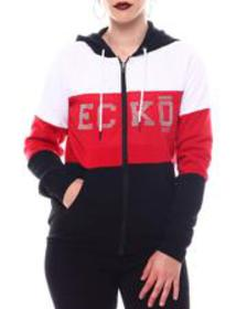 Ecko Red ecko color block zip up hoody