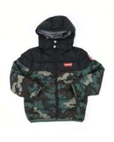 Levi's camo chance hooded puffer jacket (8-20)