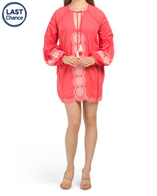 SHOW ME YOUR MUMU Claudine Embroidered Tunic Dress