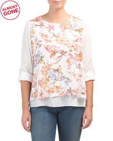 Made In Italy Multi Flower Lace Top