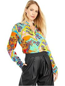 Versace Jeans Couture Retro Scarf Button-Down Blou