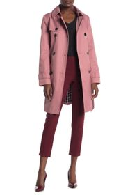 Calvin Klein Hooded Double Breasted Trench Coat