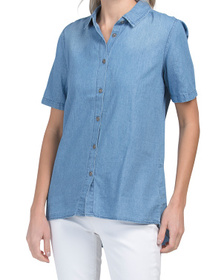 Split Back Tencel Shirt