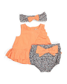 CATHERINE MALANDRINO Newborn Girl Top & Bow Bloome