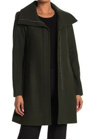 Nine West Zip Front Wool Coat