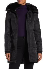 Vince Camuto Hooded Heavyweight Faux Fur Down Jack