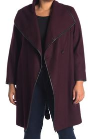 DKNYC Wool Blend Belted Coat