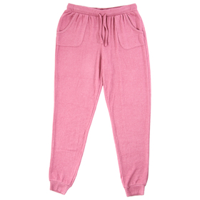 Girls (7-16) Pink Rose Hacci Joggers with Pockets