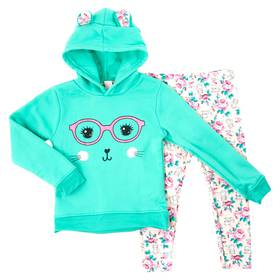 Girls (4-6x) Colette Lilly Cat Hoodie and Print Le