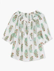 Lucky Brand Printed Mia Peasant Top