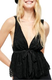Free People Chante Lace Tie Tank Top