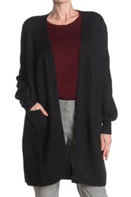 Max Studio Long Pocket Cardigan Sweater