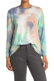 WHITE WILLOW Tie-Dye Long Sleeve High/Low Pullover