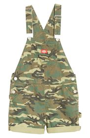 Dickies Camo Roll Hem Shortalls