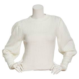 Juniors No Comment Mossy Puff Long Sleeve Ribbed S
