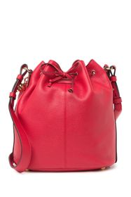 Alexander McQueen Padlock Skull Leather Bucket Bag