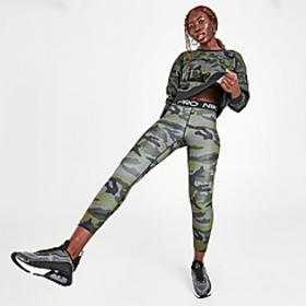 Women's Nike Pro Cropped Camo Training Tights