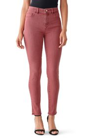 DL1961 Farrow Cropped High Rise Skinny Jeans