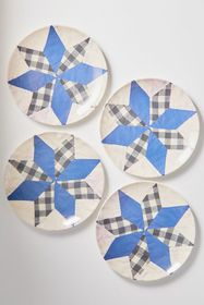 Siren Song Quilt Dinner Plate - Set Of 4