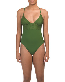 ROBIN PICCONE Lily V-neck One-piece Swimsuit