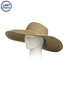 DANIELE MEUCCI Made In Italy Striped Floppy Hat