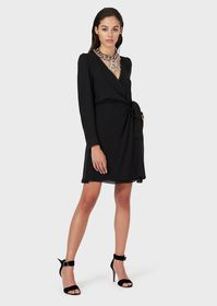Armani Silk double-Georgette crossover dress with