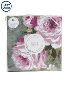 MOSS AND WILLOW 3pc Blossom Floral Duvet Set