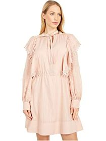 See by Chloe Embellished Cotton Voile Short Dress