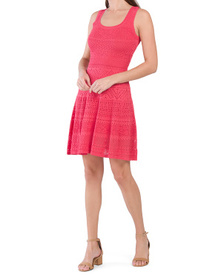 MILLY Pointelle Fit & Flare Dress