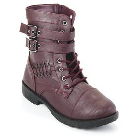Womens Wanted Defense Woven Side Combat Ankle Boot