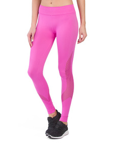 NUX Made In Usa High Waist Network Ankle Leggings