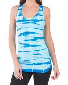 NUX Made In Usa Tava Built In Bra Ruched Tank