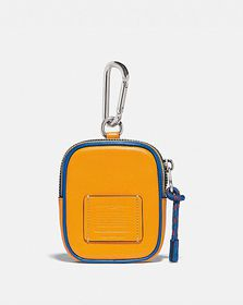 Coach hybrid pouch 8 in colorblock with coach patc