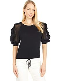 See by Chloe Knit Puff Short Sleeve Sweater
