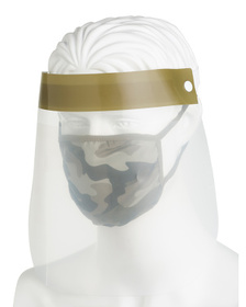 Adult Camo Face Shield And Mask Set