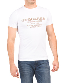 DSQUARED2 Made In Italy Logo Front Tee