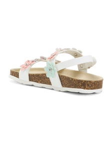 MILA PAOLI Made In Italy Floral Sandals (Toddler)