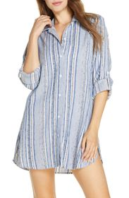 Tommy Bahama Sail Forth Cover-Up Boyfriend Shirt