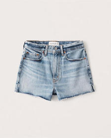 Pride High Rise Mom Shorts, LIGHT MEDIUM WASH WITH