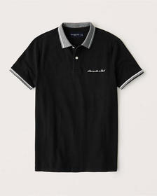 Graphic Logo Polo, BLACK