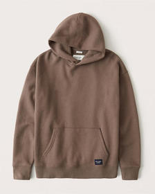 The A&F Perfect Popover Hoodie, BROWN