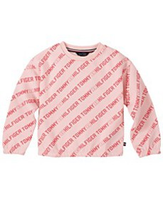 Little Girl's All-Over Printed Crewneck Sweatshirt