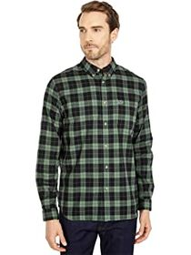 Lacoste Long Sleeve Casual Checked Pattern Chest P